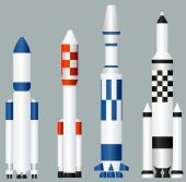 Space rockets — Stock Vector