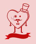 Cute cartoon heart background — Stock Vector
