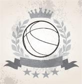 Grunge Basketball laurel weath — Stock Vector