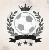 Grunge Soccer laurel weath — Stock Vector
