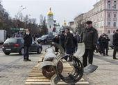 Exhibition of Russian weapons in Kiev — ストック写真