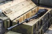 Russian heavy machine gun — Foto Stock