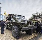 Exhibition of Russian weapons in Kiev — Stock Photo