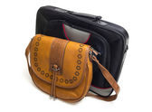 Women's bag and laptop case — Stock Photo