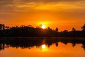 Sunrise over the pond — Stock Photo