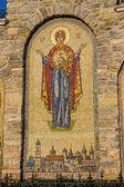 Mosaic icon, Trinity church, Kamenetz-Podolsk — Stock Photo