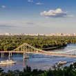 Parkovyi bridge to the Trukhaniv Island. — Stock Photo #70288777