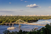Parkovyi bridge to the Trukhaniv Island. — Stockfoto