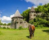 Kamenetz-Podolsk medieval fortification — Stock Photo