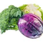 Cauliflower, broccoli and Scotch kale — Stock Photo #77923218