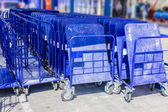 Shopping trolleys — Stock Photo