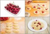 Fazer bolinhos de massa, ingredientes e pratos prontos — Fotografia Stock