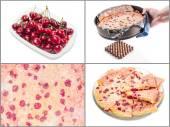 Cherry clafoutis — Stock Photo