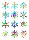 Beautiful snowflakes set — Stock Vector