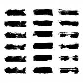 Vector set of grunge brush strokes — Stock Vector