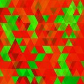 Christmas Geometric Background — Stock Vector