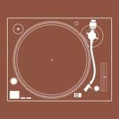 Turntable vinyl record player. — Stock Vector
