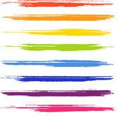 カラフルなブラシ ストロークのセット — ストックベクタ