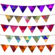 Bunting and garland set — Stock Vector #67616831