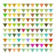 Bunting and garland set — Stock Vector #67617077