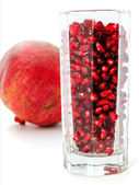 Pomegranate juice in a glass — Stock Photo