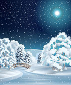 Winter trees — Stock Vector