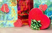 Colorful & romantic decorated Present — Stock Photo
