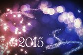 New Year's celebration card — Stock Photo