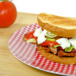 BLT with fresh tomatoes — Stock Photo #53216297