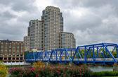 Blue bridge in Grand Rapids — Photo
