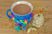 Hot chocolate drink with cookies — Foto Stock