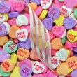 Valentine candy hearts — Stock Photo #59189997