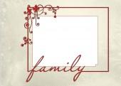Red Christmas family frame — Stock Photo