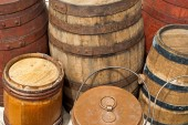 Vintage wooden barrels — Photo