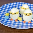 Deviled egg Easter chicks — Stock Photo #71475941