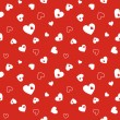 Seamless red pattern with hearts — Stock Vector #55880427
