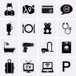 Hotel Services and Facilities Icons. Set 1 — Stock Vector #67497279