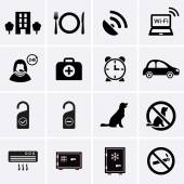 Hotel Services and Facilities Icons. Set 2. — Stock Vector
