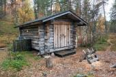 Log Cabin in Deep Taiga Forest — Foto de Stock