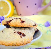 Sweet biscuits on a  table — Stock Photo