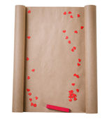 Letter with red hearts — Stock Photo