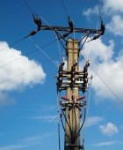 Electric mast — Stock Photo