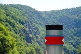 Steamboat smokestack — Stock Photo