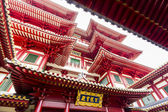 Detail of Buddha Tooth Relic Temple in China Town Singapore. — Stock Photo