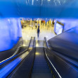 Motion down of escalator in department store — Stock Photo #61100991