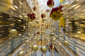 Motion zoom with christmas ornament decorate — Stock Photo