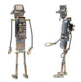 Steampunk robots isolated — Stock Photo