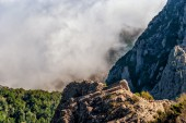 View of rock and fog — Fotografia Stock