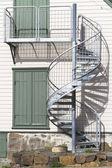External Spiral Staircase — Stock Photo