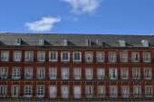 Balconies of the Plaza Mayor — Stock Photo